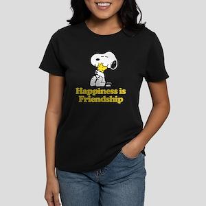 Happiness is Friendship Women's Dark T-Shirt