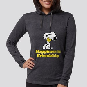 Happiness is Friendship Womens Hooded Shirt