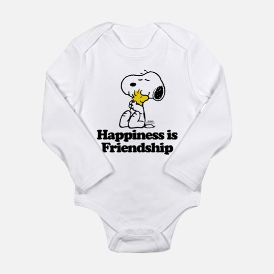 Happiness is Friendshi Long Sleeve Infant Bodysuit