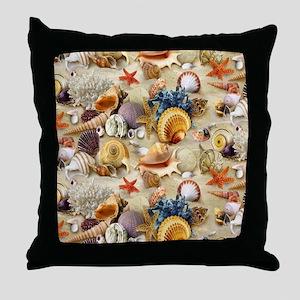 Fancy Seashell Throw Pillow