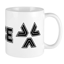 Almost Human Black Police Logo Mugs