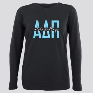 Alpha Delta Pi Polka Dot Plus Size Long Sleeve Tee