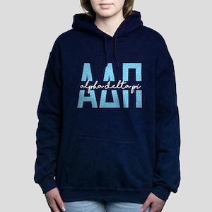 Alpha Delta Pi Polka Dot Women's Hooded Sweatshirt