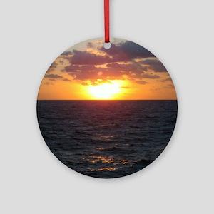 Solar Waves flip flop Round Ornament