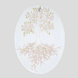 Tree w/roots light Oval Ornament