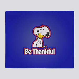 Peanuts Be Thankful Throw Blanket