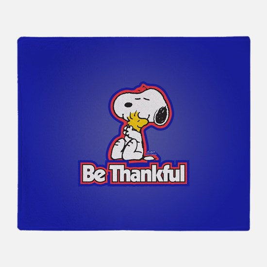Peanuts Be Thankful Throw Blanket