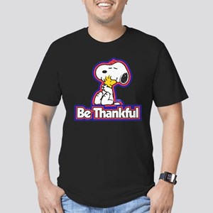 Peanuts Be Thankful Men's Fitted T-Shirt (dark)