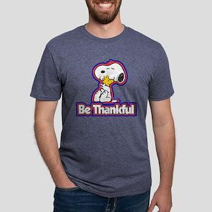 Peanuts Be Thankful Mens Tri-blend T-Shirt