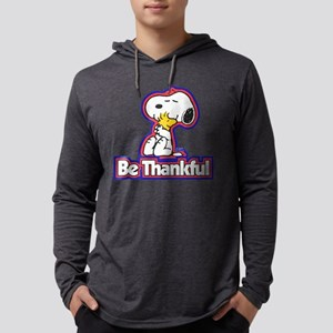 Peanuts Be Thankful Mens Hooded Shirt