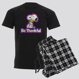Peanuts Be Thankful Men's Dark Pajamas