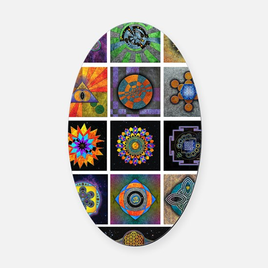 6x6 print collection A Oval Car Magnet