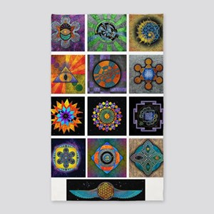 6x6 print collection A 3'x5' Area Rug