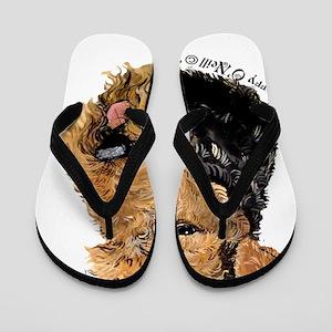 Airedale Terrier Good Dog Flip Flops