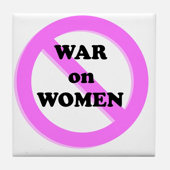War on Women Tile Coaster