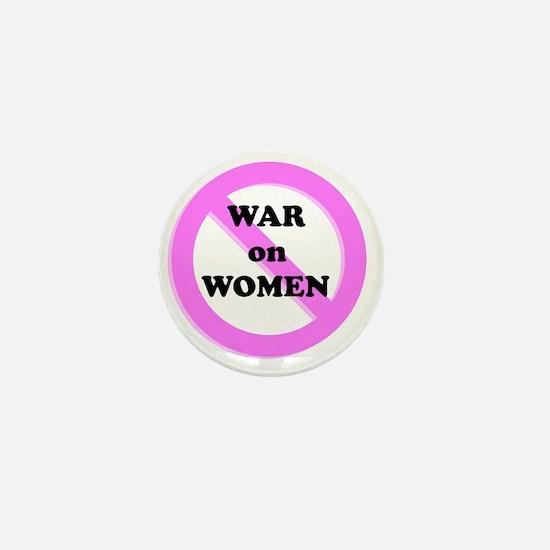 War on Women Mini Button