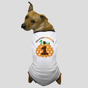 Pumpkin 1st Birthday Dog T-Shirt