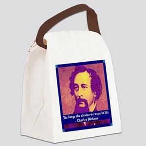 Charles Dickens Canvas Lunch Bag