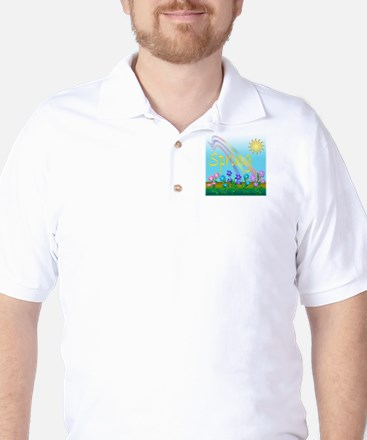 Spring Flowers Golf Shirt