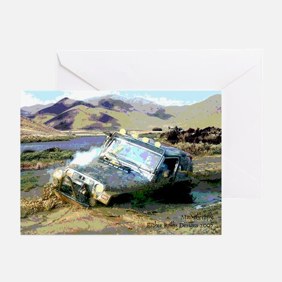 Jeep & Mud Therapy Greeting Cards (Pk of 10)