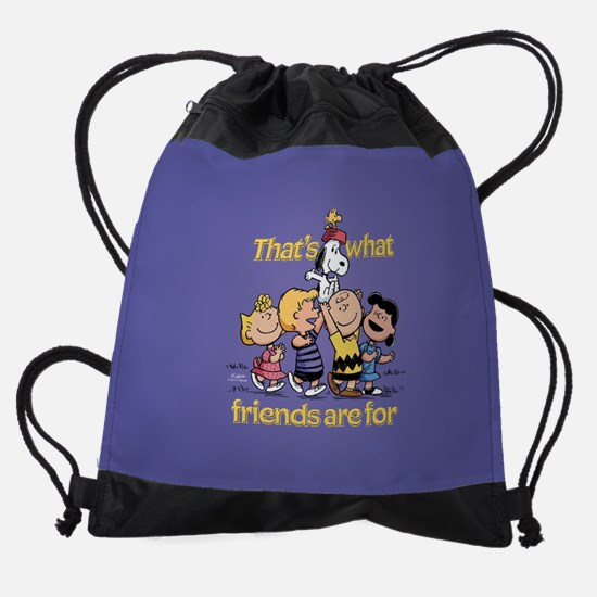 Peanuts Happiness Is Friendship Drawstring Bag