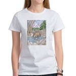 Wolf pup and wolf and creek t-shirt