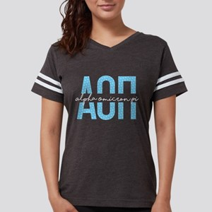 Alpha Omicron Pi Polka Dots Womens Football Shirt