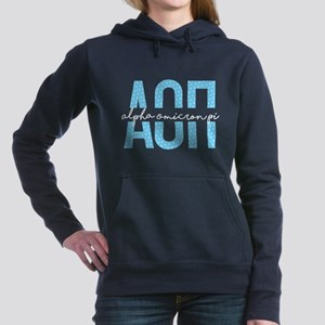Alpha Omicron Pi Polka D Women's Hooded Sweatshirt