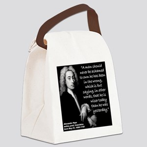 Pope WIser Quote 2 Canvas Lunch Bag