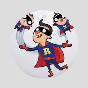 Super Dad Round Ornament
