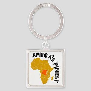 Congo designs Square Keychain