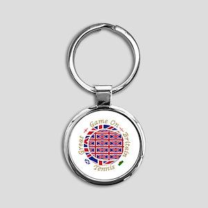 Great Britain Tennis Crest Round Keychain