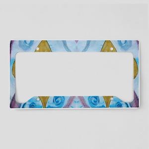 Gold Fleur de lis on blue License Plate Holder
