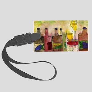 Tuscany Wine Large Luggage Tag