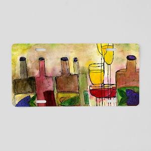 Tuscany Wine Aluminum License Plate