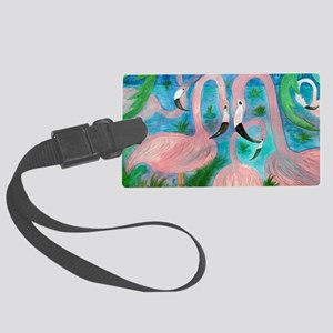 Flamingo Party Large Luggage Tag