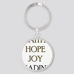 FAITH HOPE JOY READING Round Keychain