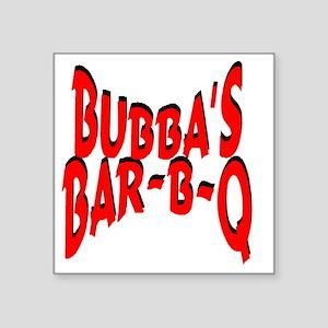 "Bubbas Bar B Q Square Sticker 3"" x 3"""