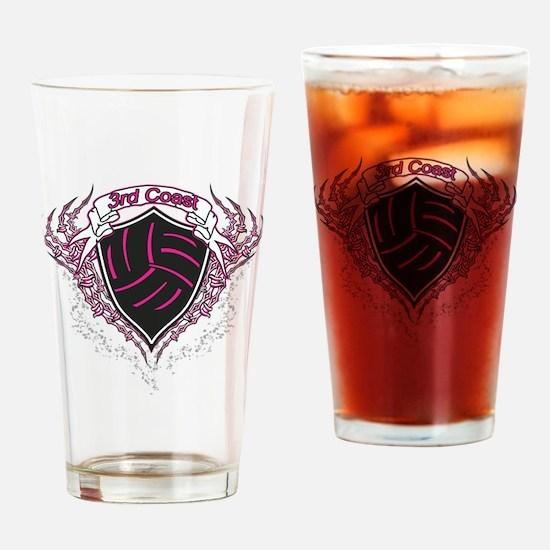 Pink Barbs Drinking Glass