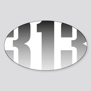 313 Detroit Sticker (Oval)