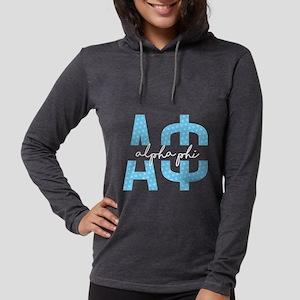 Alpha Phi Polka Dots Womens Hooded Shirt