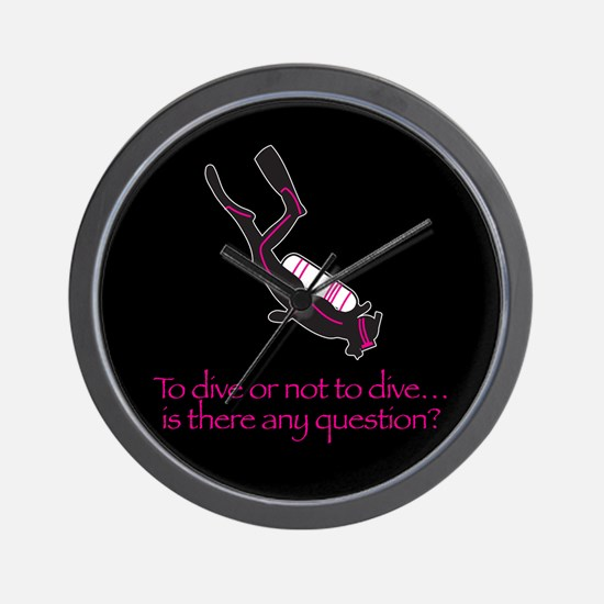 To dive or not to dive Wall Clock