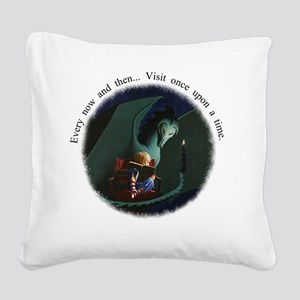 once upon a time-reduced Square Canvas Pillow