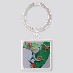 Coqui Frog Square Keychain