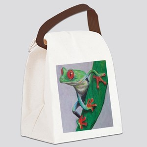 Coqui Frog Canvas Lunch Bag