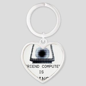 Paranoia RPG Friend Computer is Wat Heart Keychain