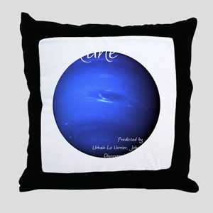 Neptune-1-whiteLetters Throw Pillow