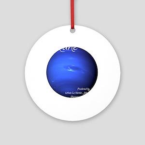 Neptune-1-whiteLetters Round Ornament