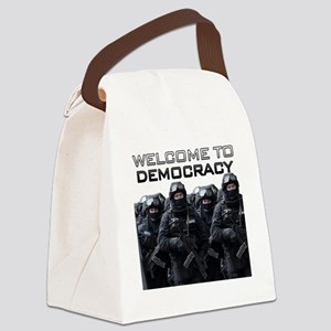 Welcome To Democracy Canvas Lunch Bag