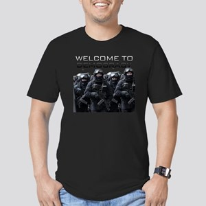 Welcome To Democracy Men's Fitted T-Shirt (dark)